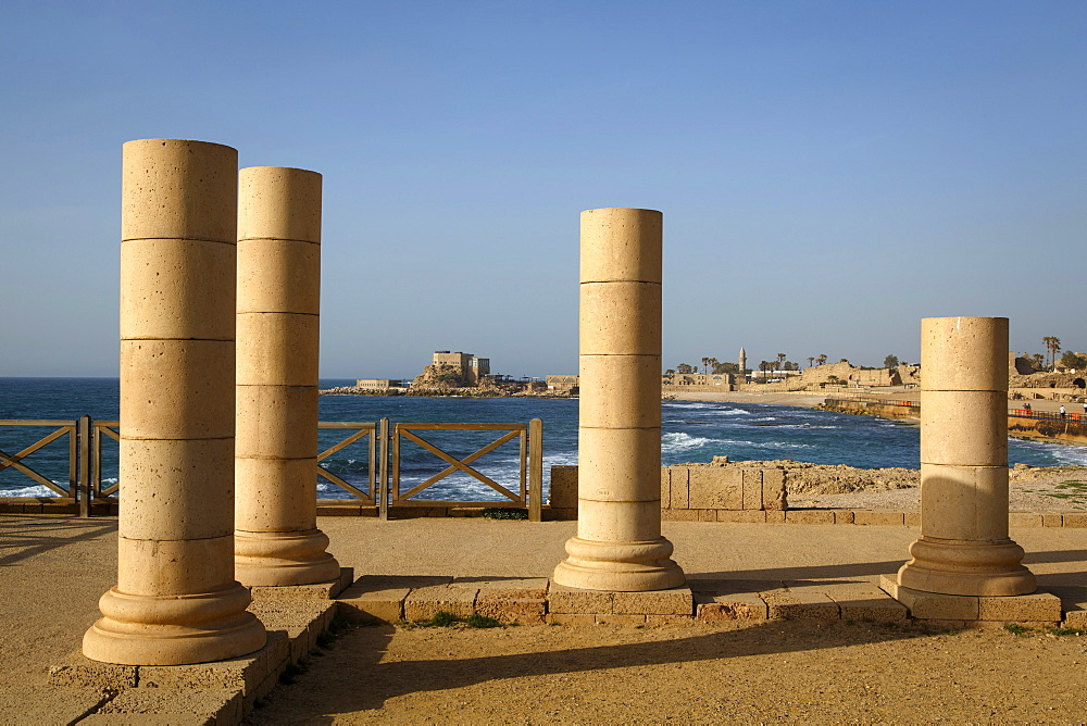 Herods Palace ruins, Caesarea, Israel, Middle East