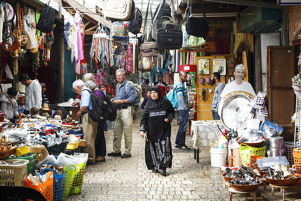The market in the old city of Akko (Acre), Israel, Middle East