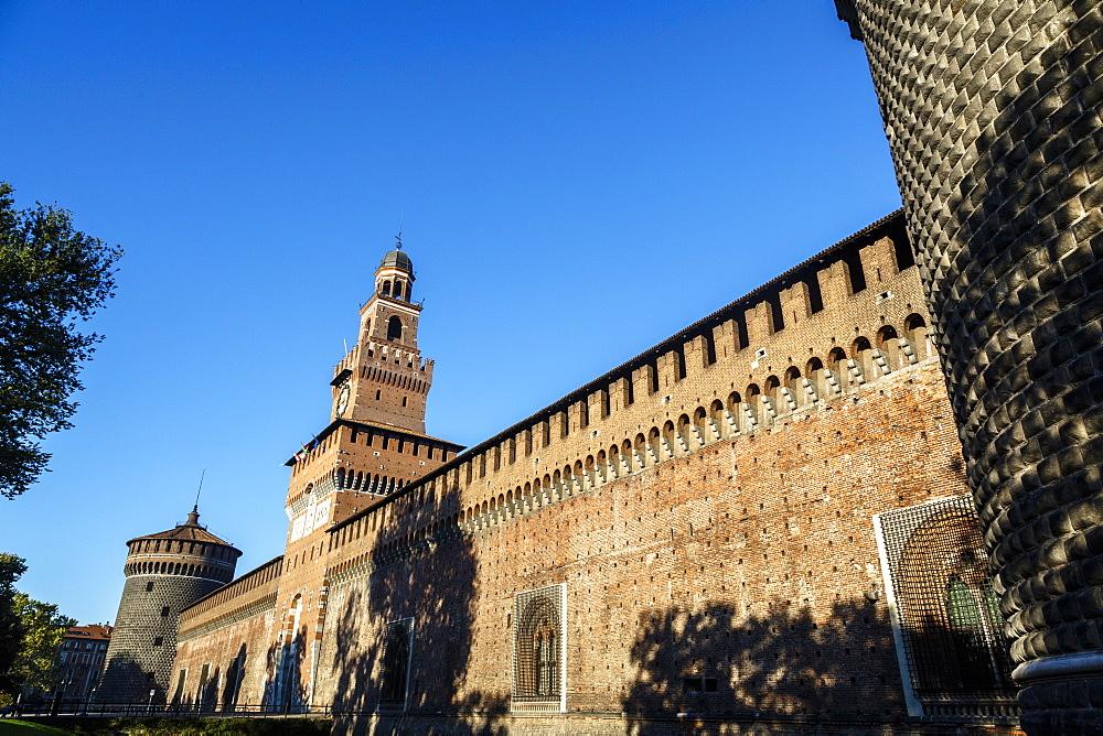 Castello Sforzesco (Sforza Castle), Milan, Lombardy, Italy,  Europe