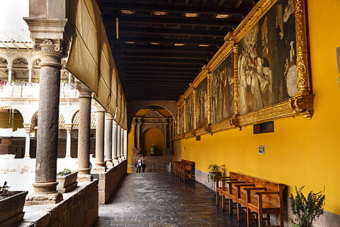 Santo Domingo church at the Qorikancha, Cuzco, UNESCO World Heritage Site, Peru, South America