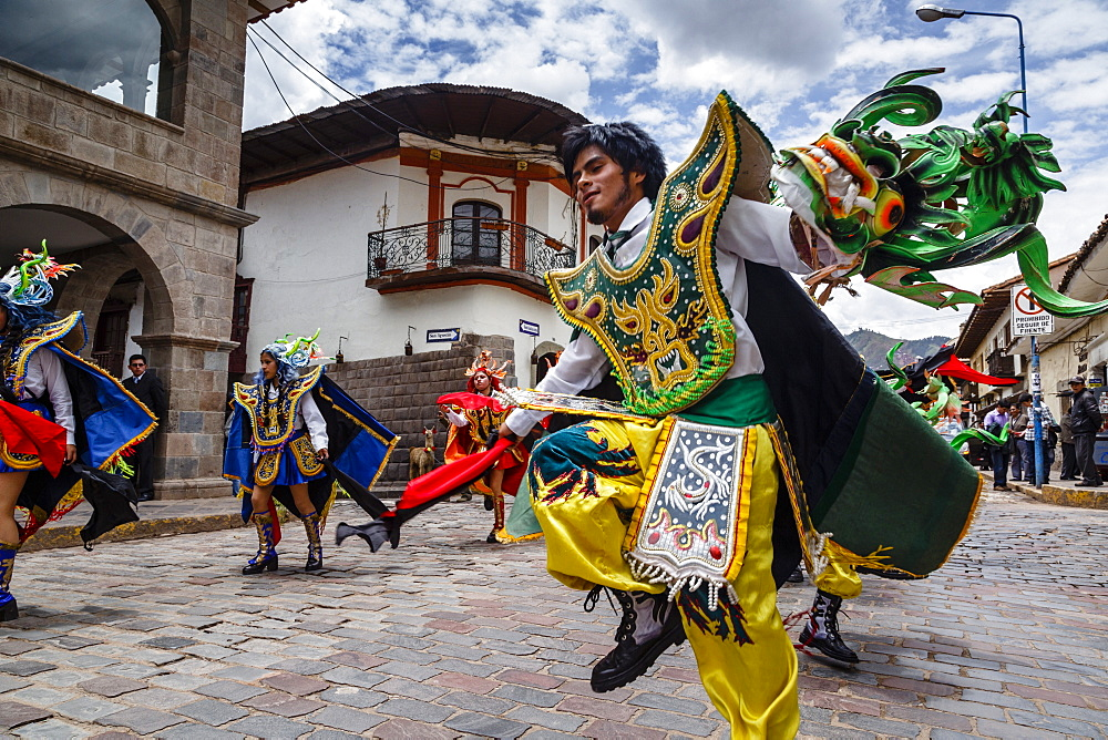 A religious procession, Cuzco, Peru, South America