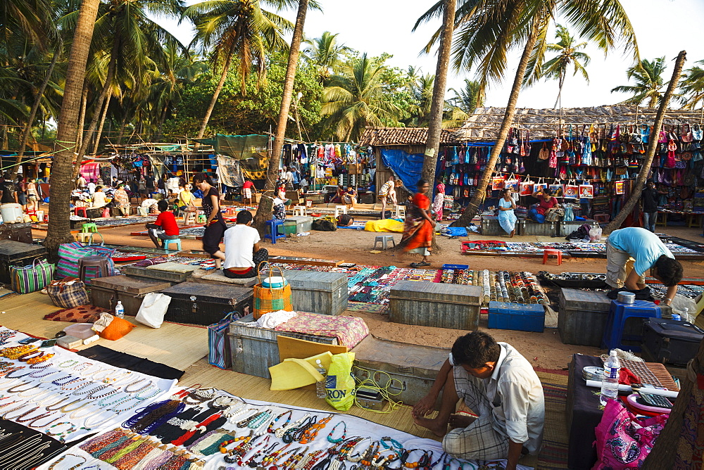 Wednesday Flea Market in Anjuna, Goa, India, Asia