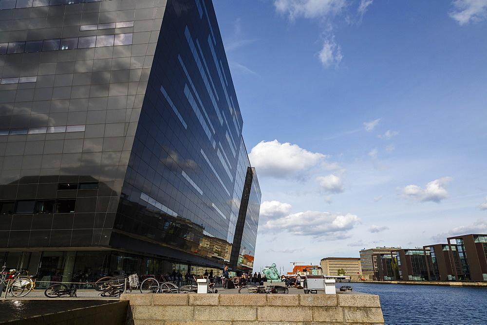 The Black Diamond building, housing the Royal Library, Copenhagen, Denmark, Scandinavia, Europe