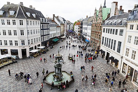 Stroget, the main pedestrian shopping street, Copenhagen, Denmark, Scandinavia, Europe - 749-2085