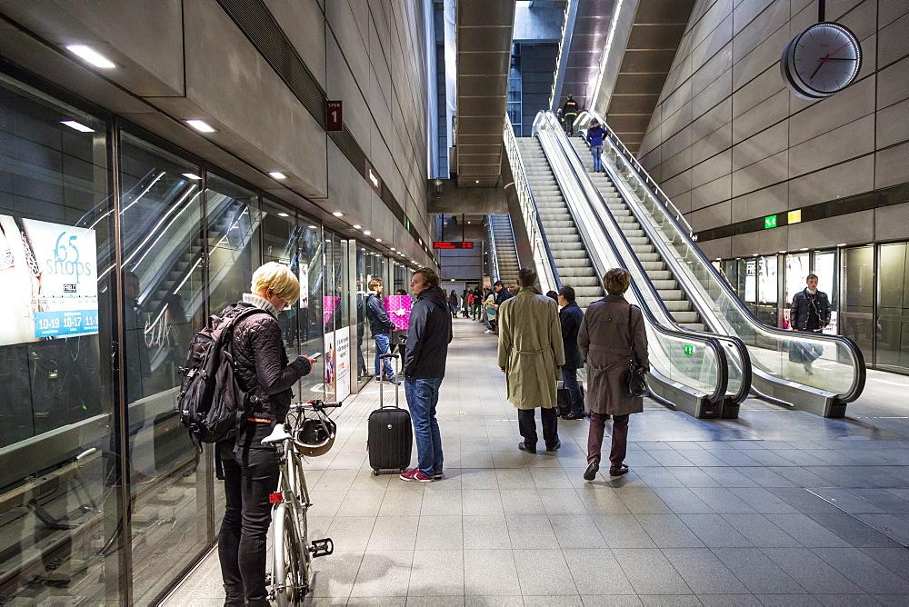 Metro station, Copenhagen, Denmark, Scandinavia, Europe