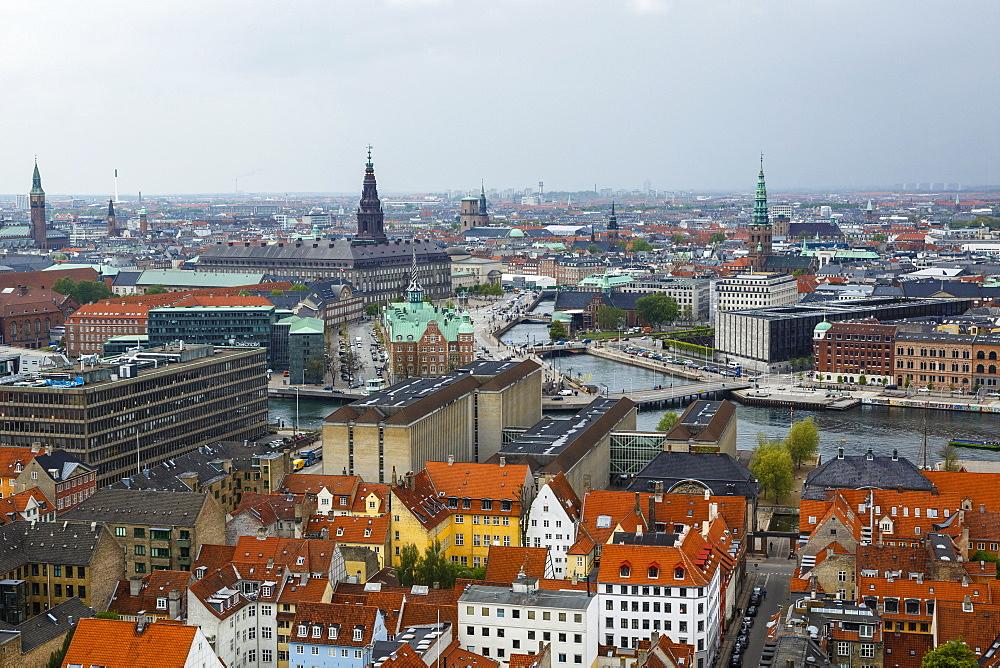 Skyline of Copenhagen, Denmark, Scandinavia, Europe