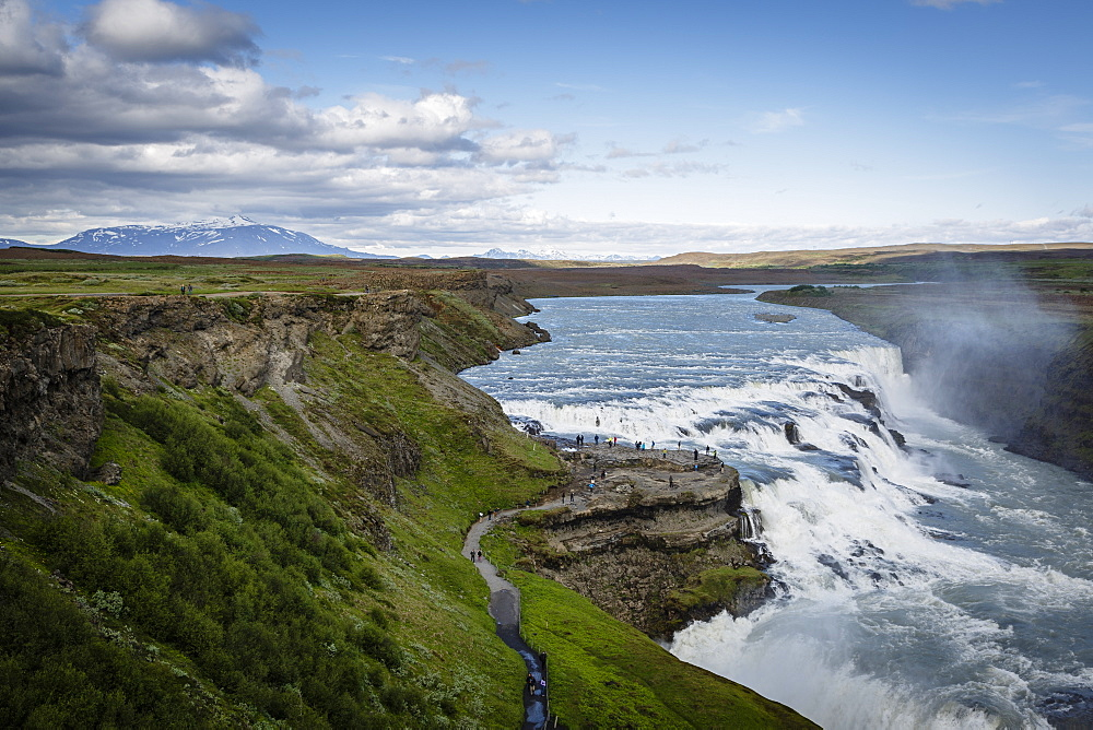 Gullfoss waterfall, Golden Circle, Iceland, Polar Regions