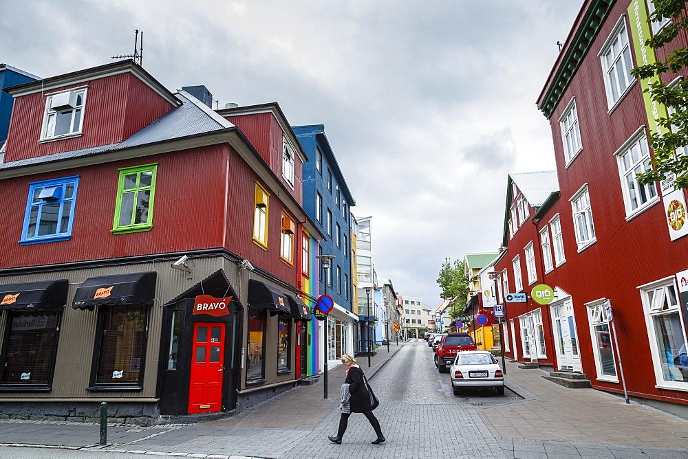 Street scene in Reykjavik, Iceland, Polar Regions