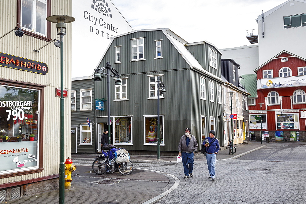 Houses at the old quarter, Reykjavik, Iceland, Polar Regions