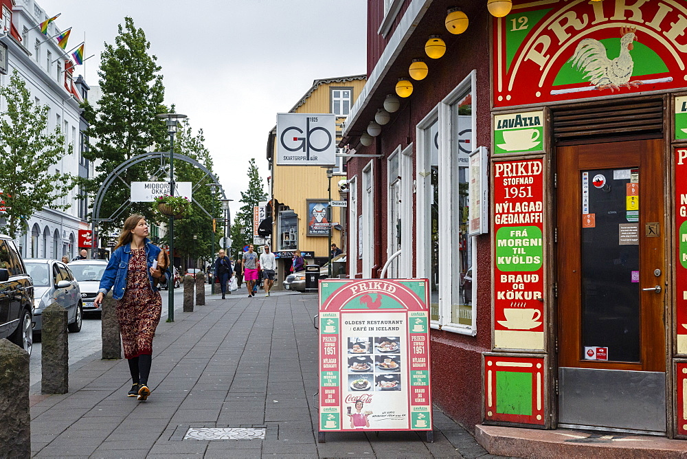 Street scene, Reykjavik, Iceland, Polar Regions