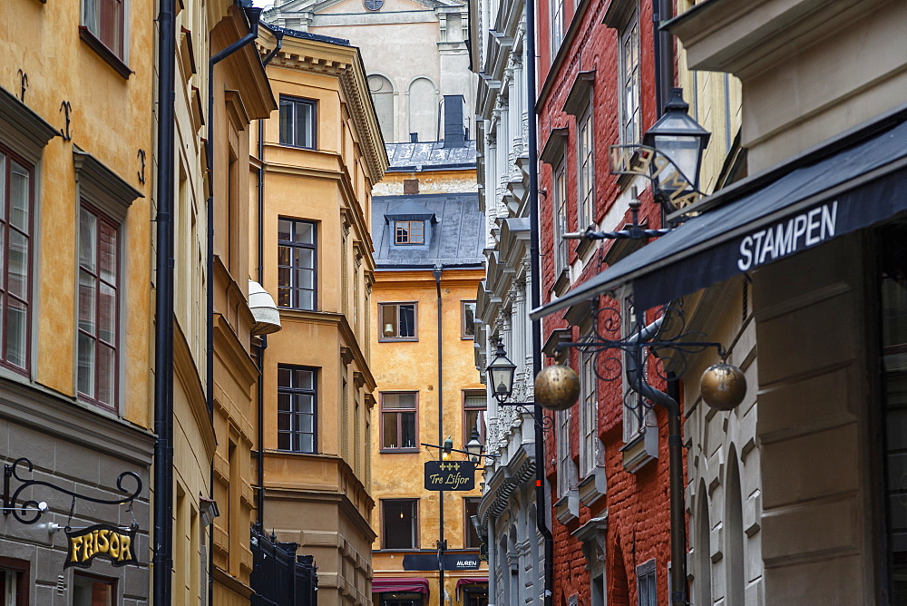 Buildings in Gamla Stan, Stockholm, Sweden, Scandinavia, Europe