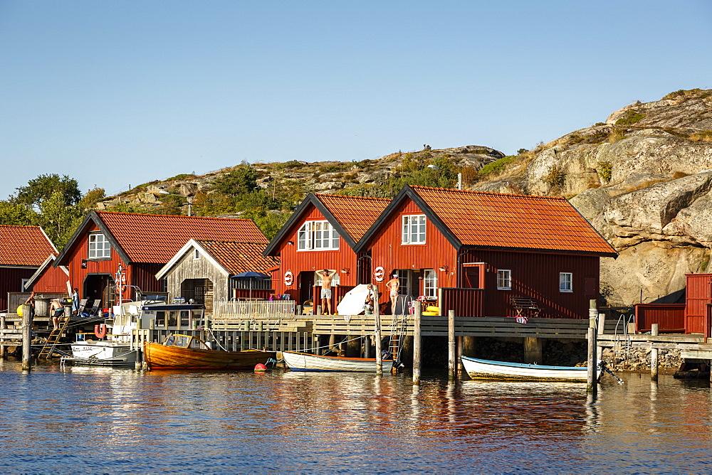 Timber houses, Grebbestad, Bohuslan region, west coast, Sweden, Scandinavia, Europe