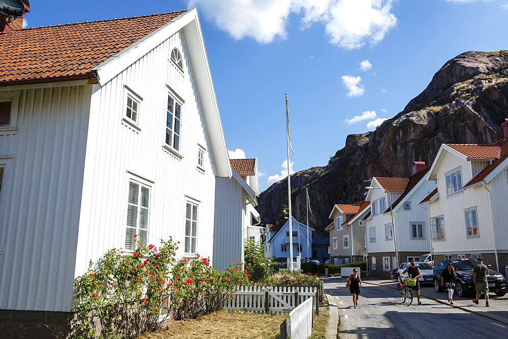 Houses in Fjallbacka, Bohuslan region, west coast, Sweden, Scandinavia, Europe