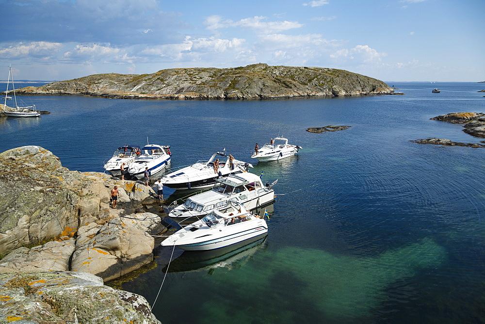 Yachts at the Vaderoarna (The Weather Islands) archipelago, Bohuslan region, west coast, Sweden, Scandinavia, Europe