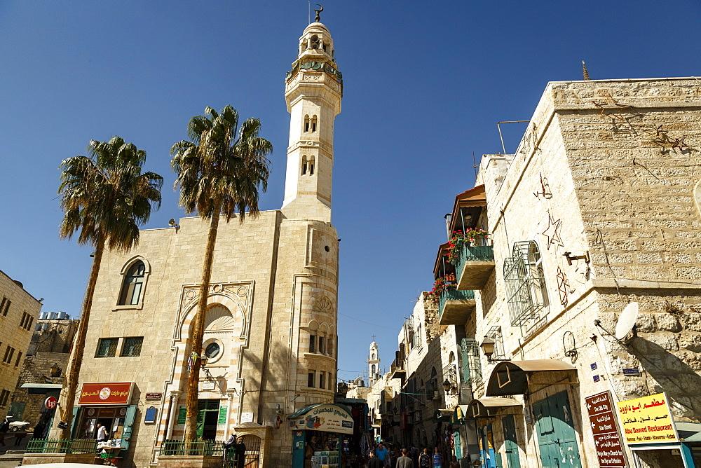 Street scene in Bethlehem, West Bank, Palestine territories, Israel, Middle East