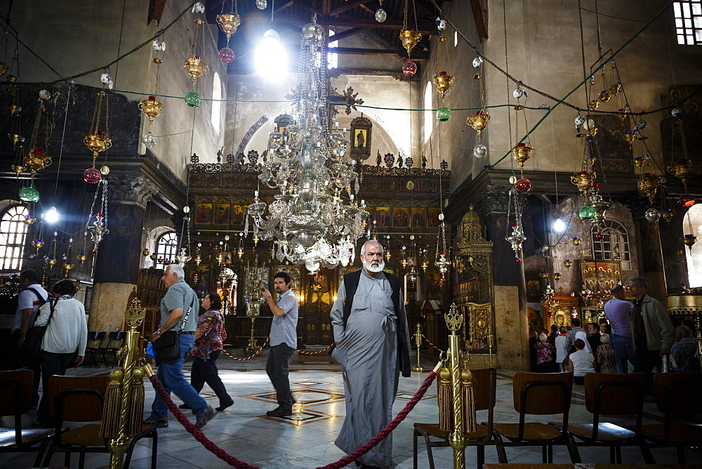 Church of the Nativity, Bethlehem, West Bank, Palestine territories, Israel, Middle East