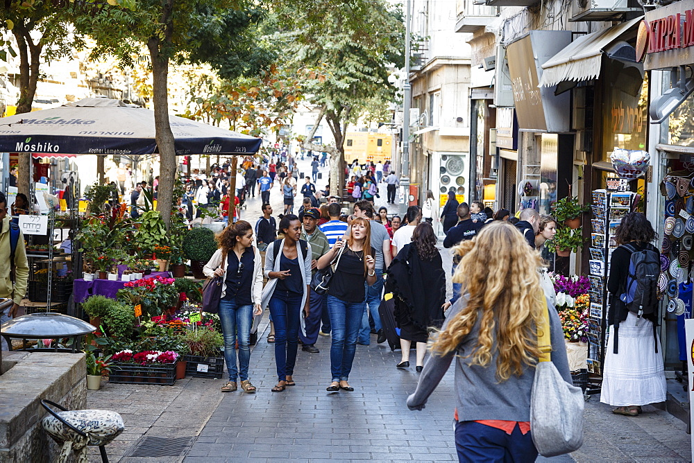 Ben Yehuda pedestrian street, Jerusalem, Israel, Middle East - 749-2221