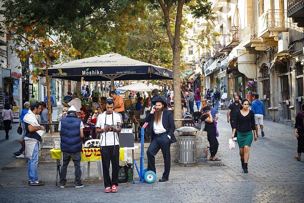 Ben Yehuda pedestrian street, Jerusalem, Israel, Middle East