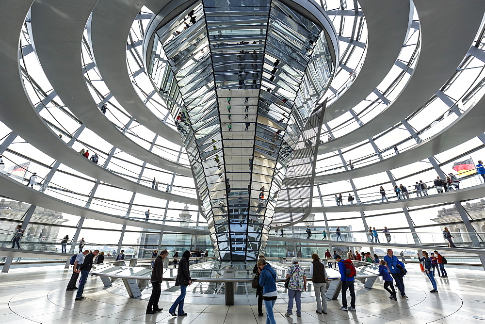 The Reichstag Dome, German Parliament building, Mitte, Berlin, Germany, Europe - 749-2289