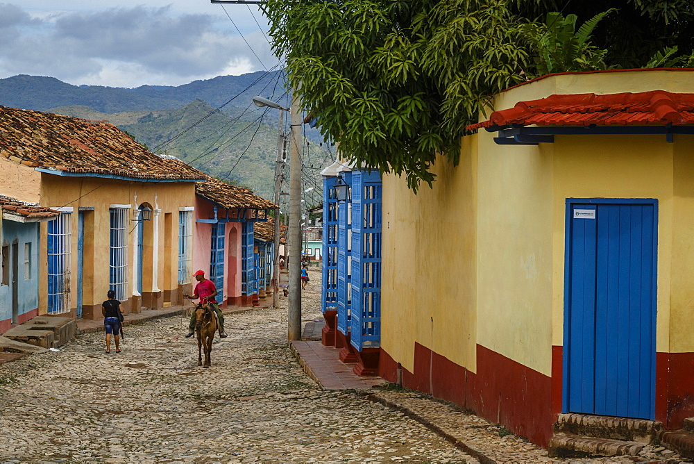 Colorful colonial houses, Trinidad, UNESCO World Heritage Site, Sancti Spiritus Province, Cuba, West Indies, Caribbean, Central America
