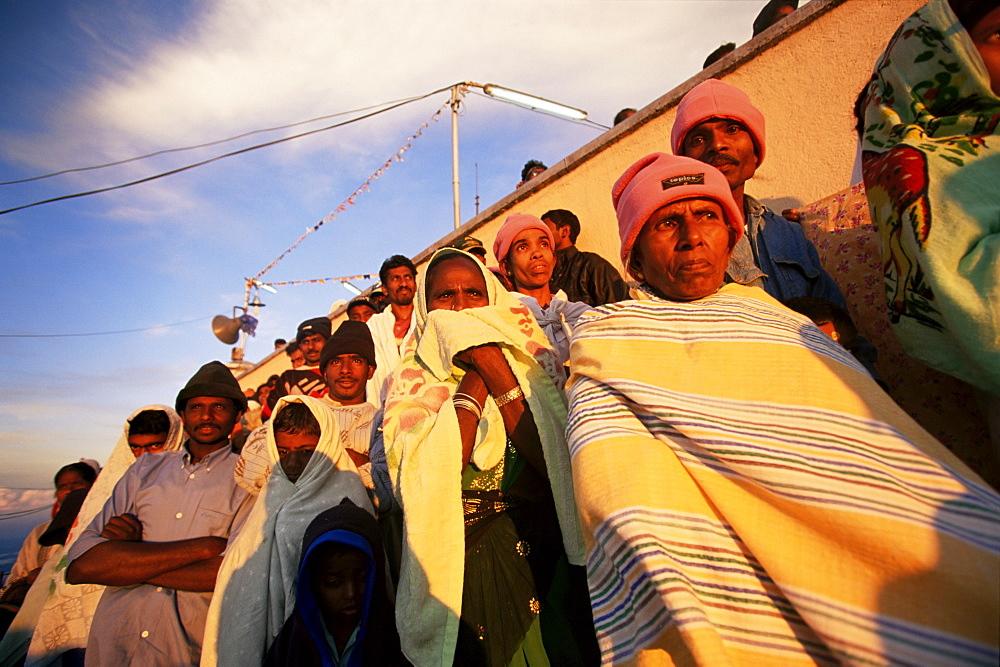Pilgrims at Adam's Peak watching the sunrise, Sri Lanka, Asia