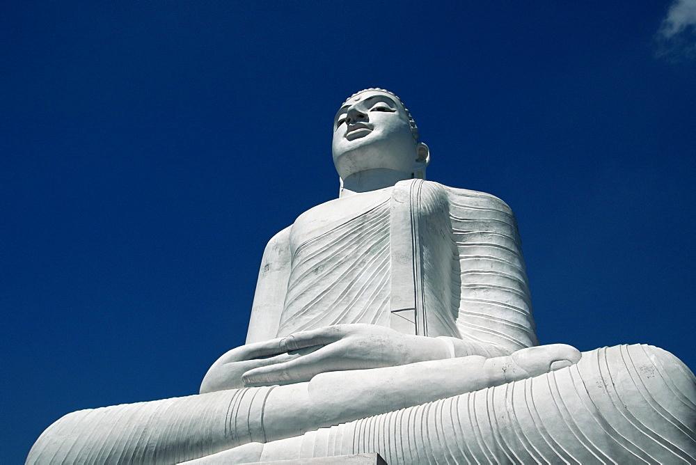 Statue of the Buddha above Kandy, Sri Lanka, Asia