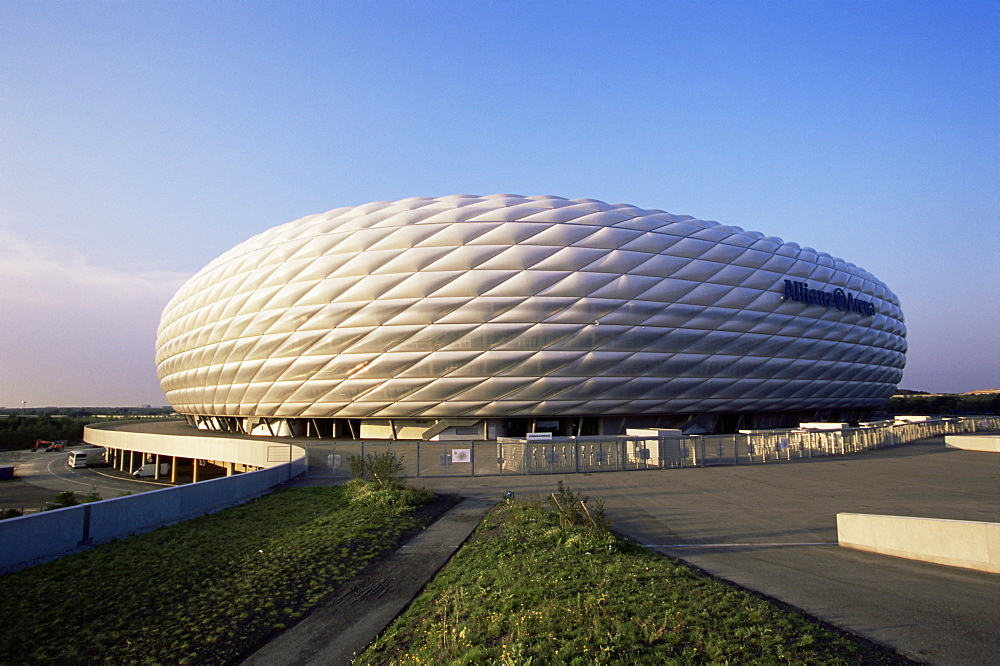The Allianz Arena football stadium, which hosted the opening match of the 2006 World Cup, Munich, Bavaria, Germany, Europe