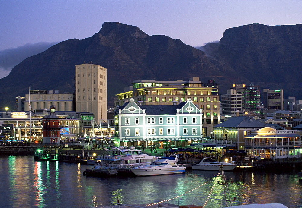 The Victoria and Alfred waterfront, in the evening, Cape Town, South Africa, Africa - 749-50