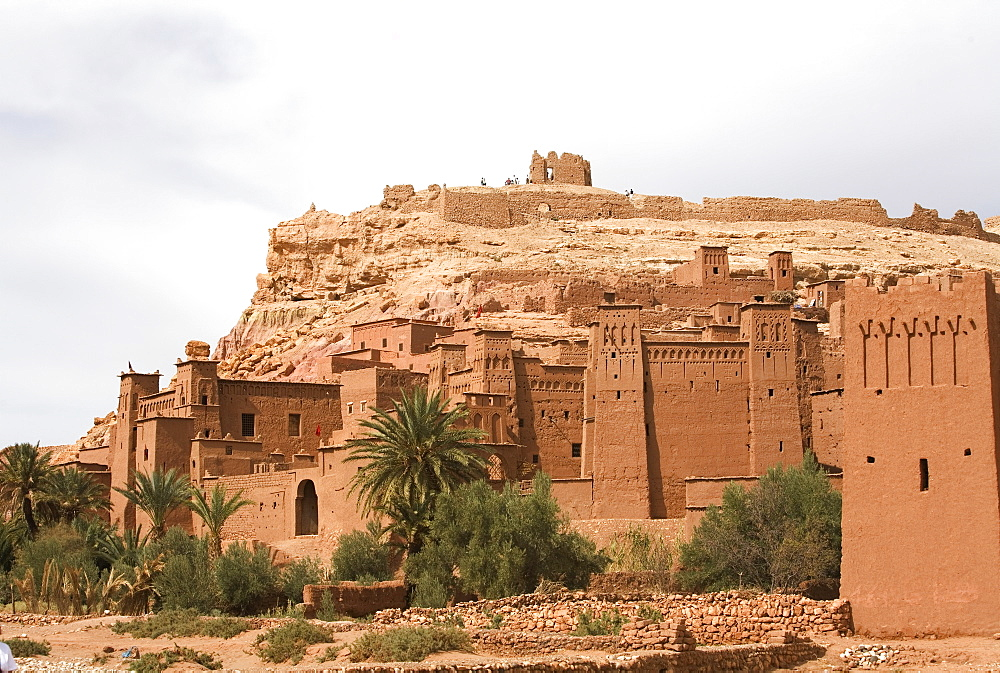 Ait Benhaddou Kasbah (mud fortress), UNESCO World Heritage Site, Ouarzazate, Atlas mountains, Morocco, North Africa, Africa