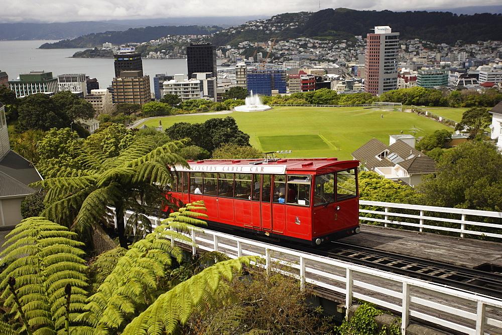 Wellington Cable Car, Wellington, North Island, New Zealand, Pacific