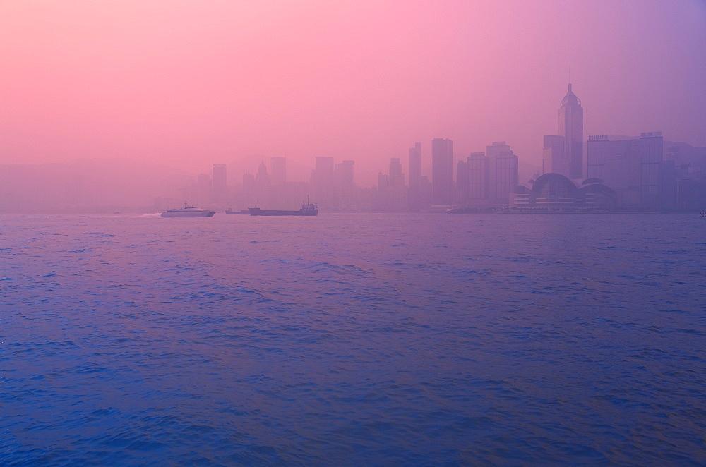 Morning at Hong Kong harbour, Hong Kong, China, Asia