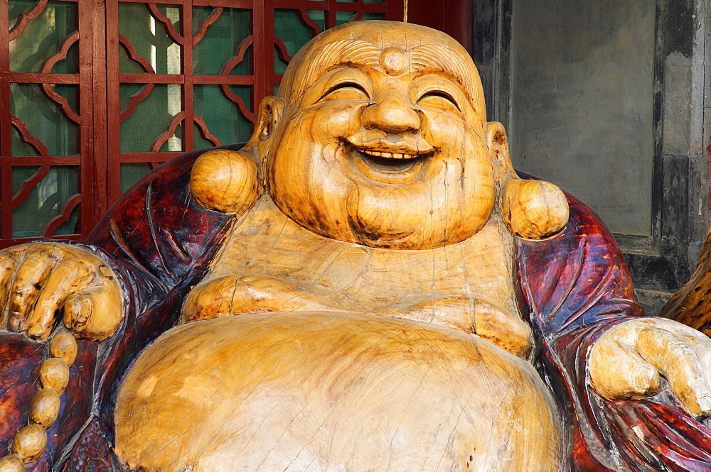 Laughing Buddha, Tanzhe Temple, Beijing, China, Asia - 756-104
