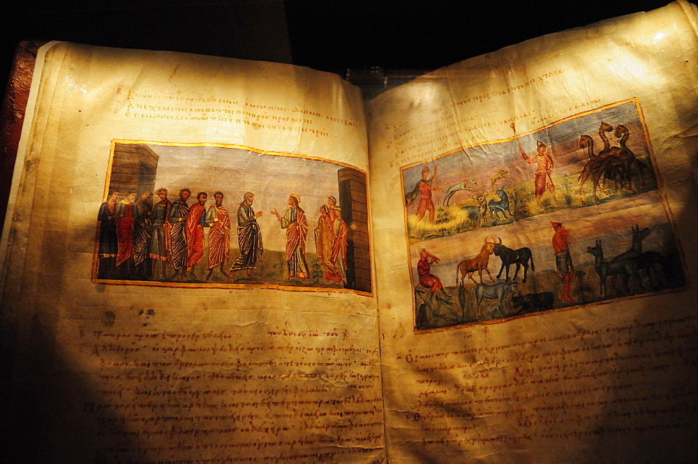 The Book of Job dating from the 11th century, Monastery of St. Catherine, Sinai, Egypt, North Africa, Africa