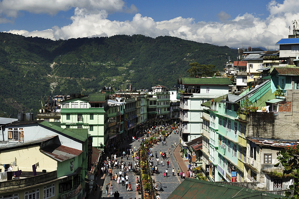 View of Gangtok, East Sikkim, Sikkim, India, Asia