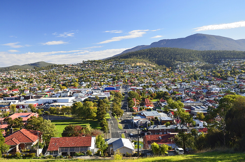 View of Hobart, Tasmania, Australia, Pacific
