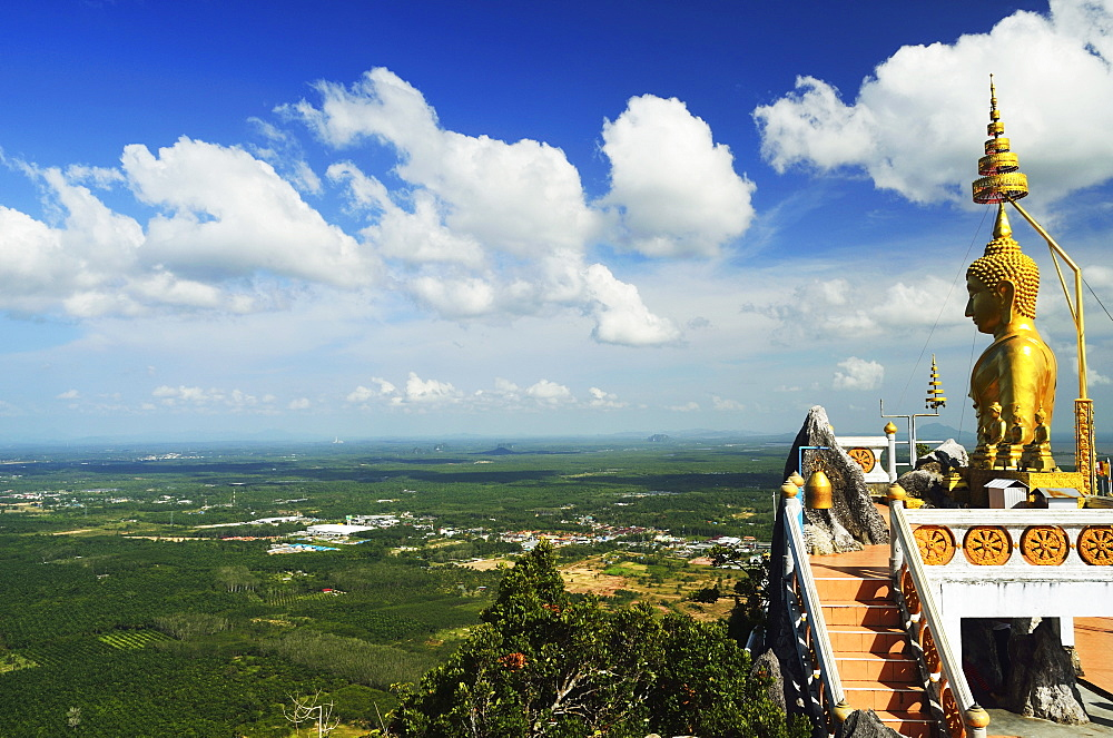 View from top of Tiger Cave Temple (Wat Tham Suea), Krabi Province, Thailand, Southeast Asia, Asia