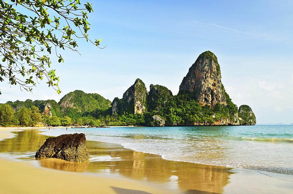 Rai Leh West Beach, Rai Leh (Railay), Andaman Coast, Krabi Province, Thailand, Southeast Asia, Asia