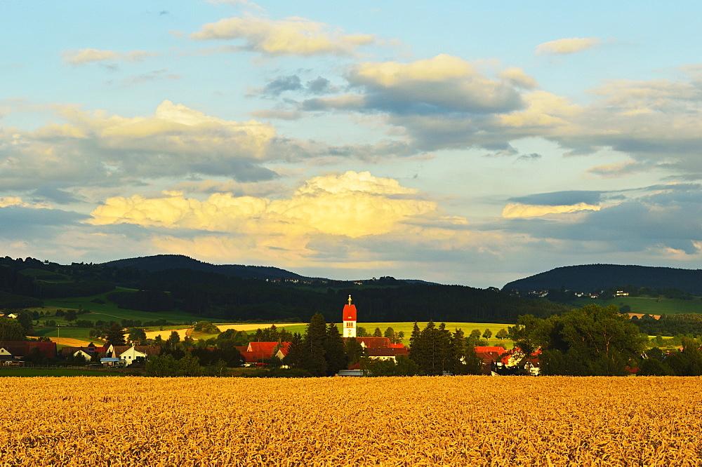 Village of Sunthausen, near Villingen-Schwenningen, Black Forest, Schwarzwald-Baar, Baden-Wurttemberg, Germany, Europe