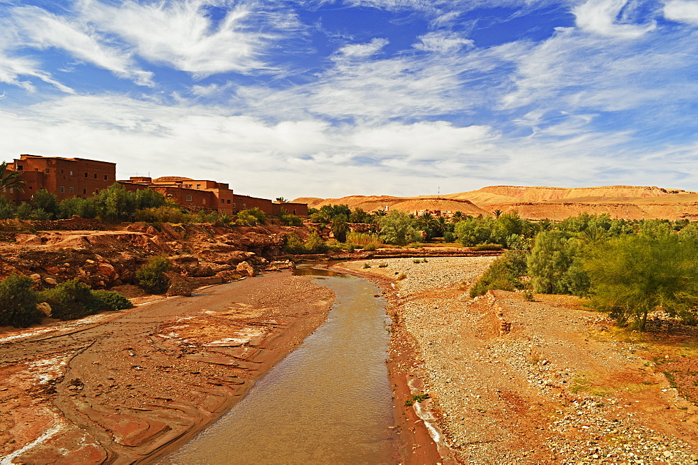 River, Ait-Benhaddou, Morocco, North Africa, Africa