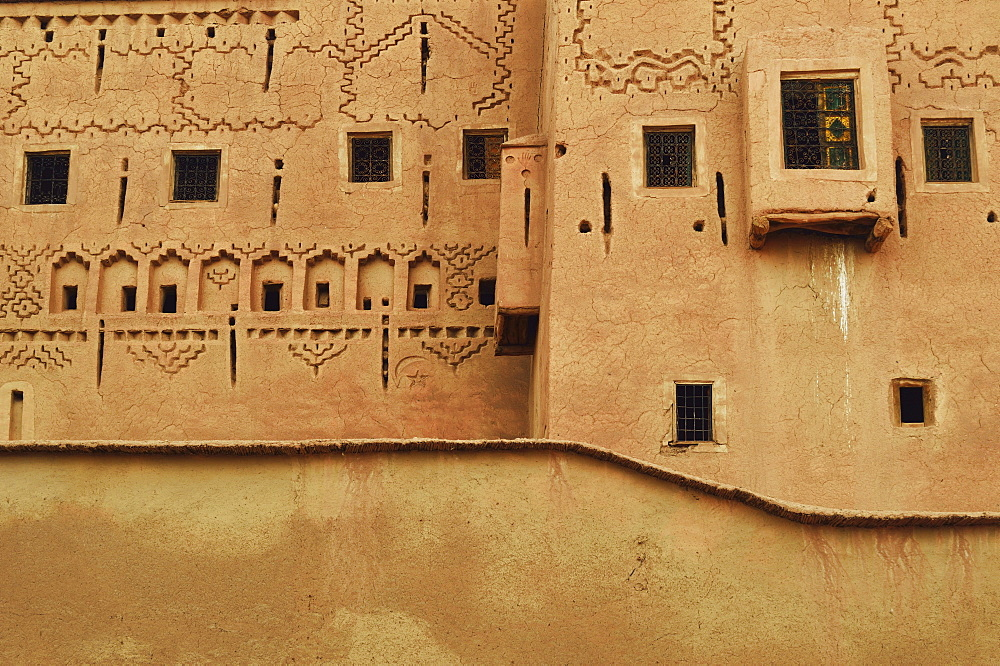 Detail of Kasbah Taourirt, Ouarzazate, Morocco, North Africa, Africa