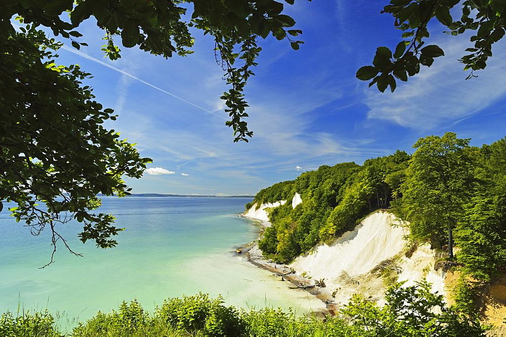 Chalk cliffs, Jasmund National Park, Ruegen Island, Mecklenburg-Vorpommern, Germany, Europe