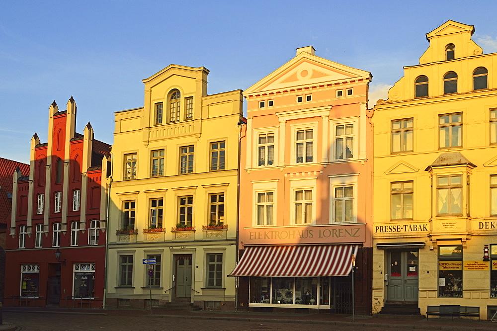 Marktplatz (market place), Wismar, UNESCO World Heritage Site, Mecklenburg-Vorpommern, Germany, Baltic Sea, Europe
