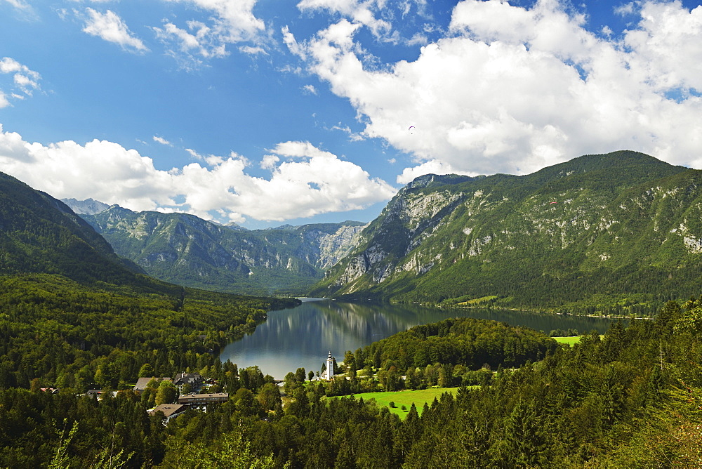 Lake Bohinj, Bohimj valley, Julian Alps, Triglav National Park, Slovenia, Europe