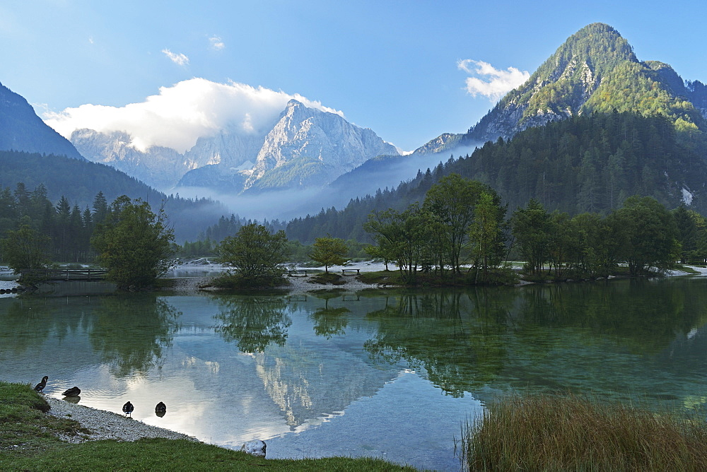 Lake Jasna and Julian Alps, Kranjska Gora, Slovenia, Europe