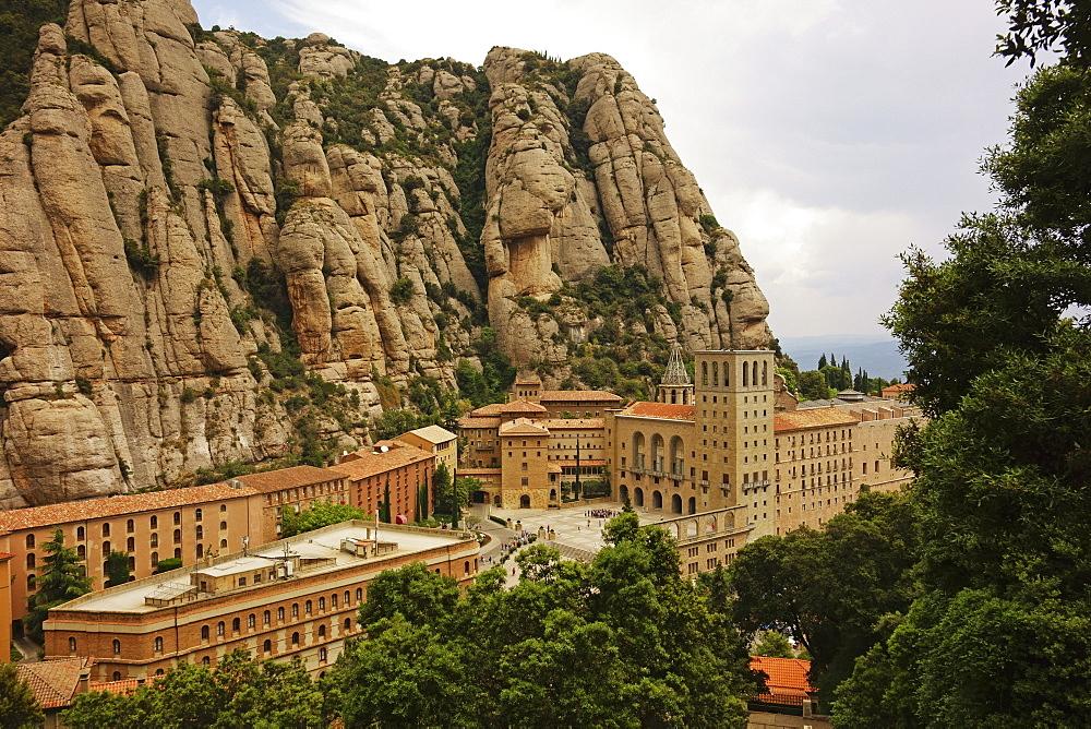 Monastery, Mountain of Montserrat, near Barcelona, Catalunya, Spain, Europe