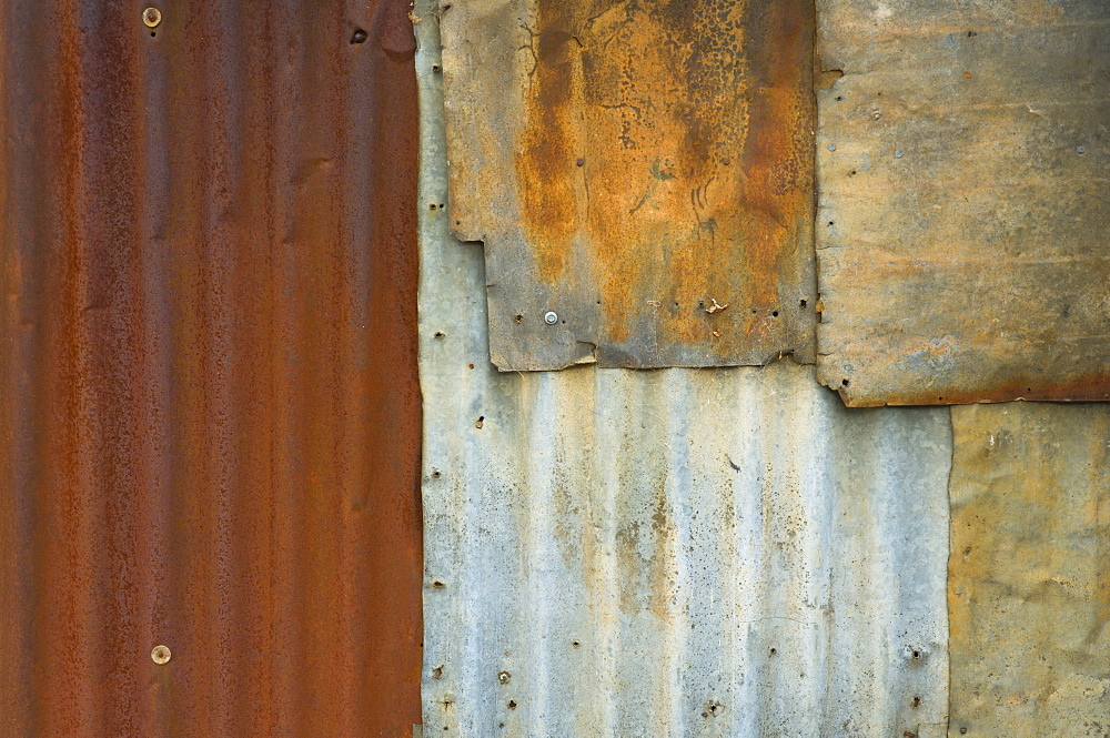 Detail of abandoned hut in historic gold mining town, Hill End, New South Wales, Australia, Pacific