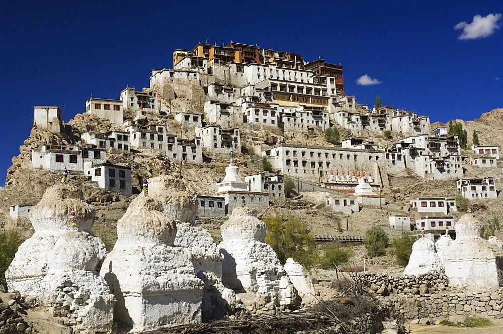 Tikse (Tiksay) gompa (monastery), Tikse (Tiksay), Ladakh, Indian Himalayas, India, Asia - 756-503
