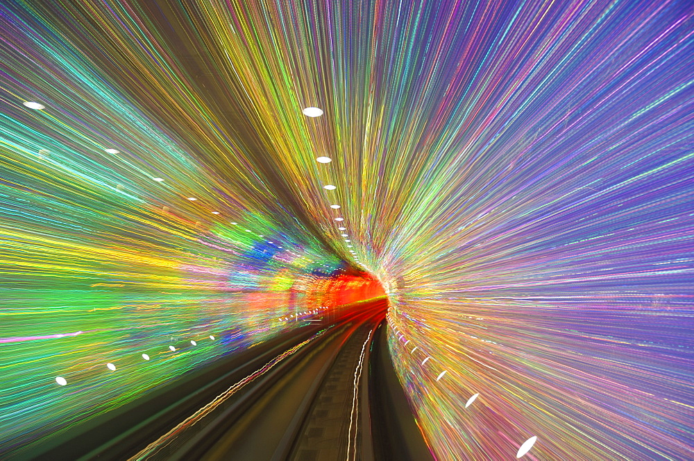 West Bund Sightseeing Tunnel, Huangpu District, Shanghai, China, Asia - 756-763