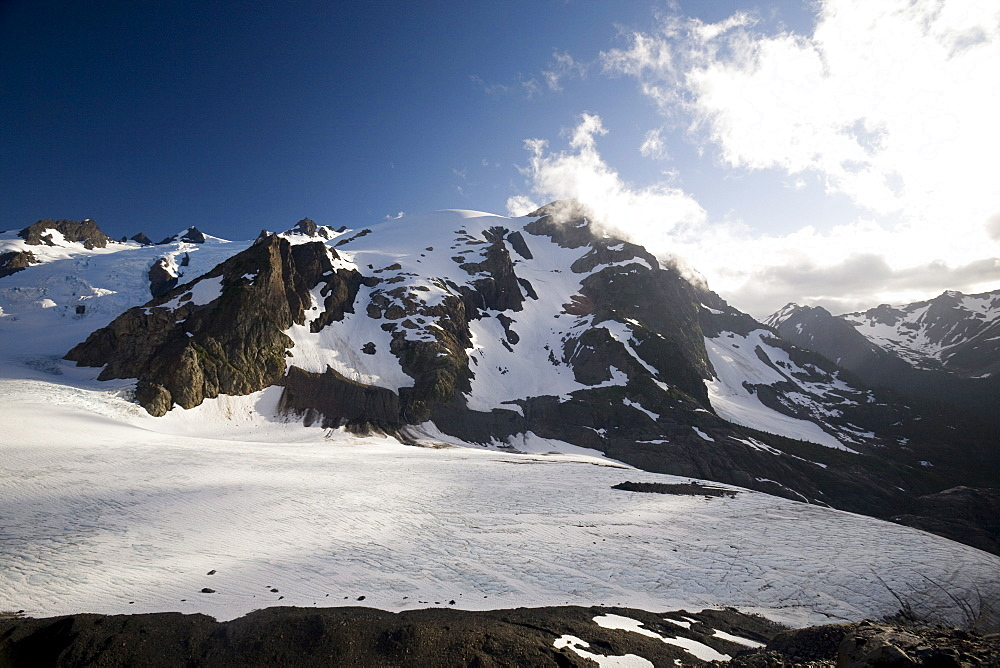 Mount Olympus and Blue Glacier, Olympic National Park, UNESCO World Heritage Site, Washington State, United States of America, North America - 757-228