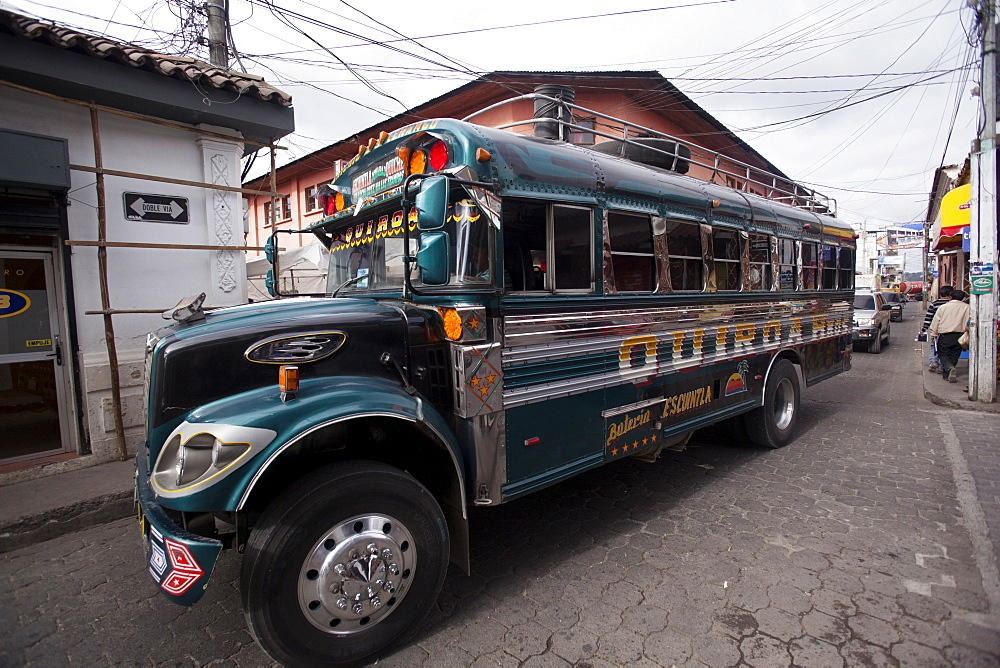 Chicken bus, Chichicastenango, Guatemala, Central America